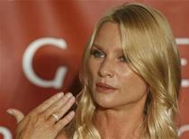 <p>U.S. actress Nicollette Sheridan speaks during a news conference in Vienna February 18, 2009. REUTERS/Heinz-Peter Bader</p>