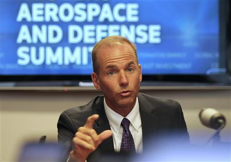 Dennis Muilenburg, President and CEO of Boeing Defense, Space & Safety, speaks during the Reuters Aerospace and Defense Summit 2010 in Washington September 7, 2010. REUTERS/Molly Riley