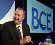 <p>George Cope, president and chief executive officer of BCE Inc., prepares for the company's annual general meeting in Montreal May 6, 2010. REUTERS/Christinne Muschi</p>