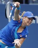 <p>A belga e atual campeã Kim Clijsters derrotou a norte-americana Venus Williams na semi-final do Aberto dos Estados Unidos. 10/09/2010 REUTERS/Jessica Rinaldi</p>