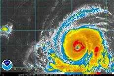 <p>Hurricane Igor is seen in this satellite image. REUTERS/National Hurricane Center/Handout</p>