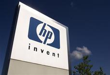 <p>Imagen de archivo del logo de HP en su oficina en Ginebra, Suiza. Ago 4 2009 Hewlett-Packard Co, el principal fabricante del mundo de computadoras personales, dijo que había acordado adquirir a la firma de ciberseguridad, ArcSight, Inc por 1.500 millones de dólares en efectivo. REUTERS/Denis Balibouse/ARCHIVO</p>