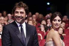 <p>Actor Javier Bardem (L) arrives with his partner actress Penelope Cruz (R) at the award ceremony of the 63rd Cannes Film Festival May 23, 2010. Bardem received the best actor award for the film Biutiful, shared with cast member Elio Germano for the film La Nostra Vita (Our Life). REUTERS/Yves Herman</p>