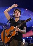 <p>John Mayer no Rock in Rio de Lisboa. Mayer é um dos mais célebres tuiteiros, com 3,7 milhões de seguidores. 21/05/2010 REUTERS/Jose Manuel Ribeiro/Arquivo</p>