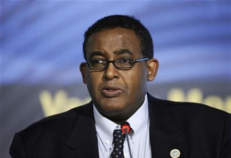Somalia's Prime Minister Omar Abdirashid Ali Sharmarke speaks at the United Nations Food and Agriculture Organization (FAO) headquarters during a food security summit in Rome, November 17, 2009. REUTERS/Filippo Monteforte/Pool