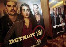 <p>Posters for new television series Detroit 1-8-7 are seen at the show's premiere in Detroit, Michigan September 7, 2010. REUTERS/Rebecca Cook</p>