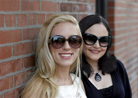 Lumete Eyewear co-founders Barbara Warren, left, and Clara Herrera are seen in this undated handout photo. REUTERS/handout