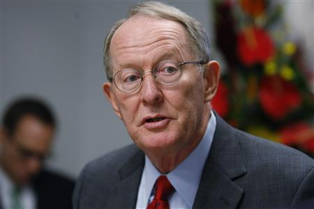Senator Lamar Alexander (R-TN) speaks at the Reuters Washington Summit, September 22, 2010. REUTERS/Hyungwon Kang