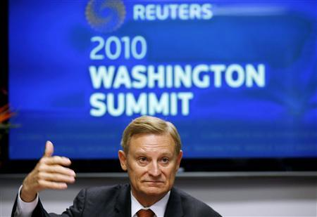 House Financial Services Committee ranking member Spencer Bachus (R-AL) speaks during the Reuters Washington Summit September 23, 2010. REUTERS/Gary Cameron