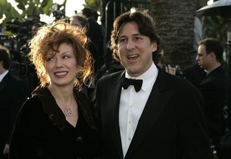 Nancy Wilson and husband Cameron Crowe arrive at the 2005 Vanity Fair Oscar Party at Mortons in West Hollywood. REUTERS/Kimberly White