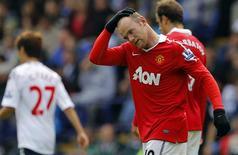 <p>Atacante do Manchester United Wayne Rooney está fora do time na partida de quarta-feira pela Liga dos Campeões após lesão no tornozelo no domingo. REUTERS/Brian Snyder</p>