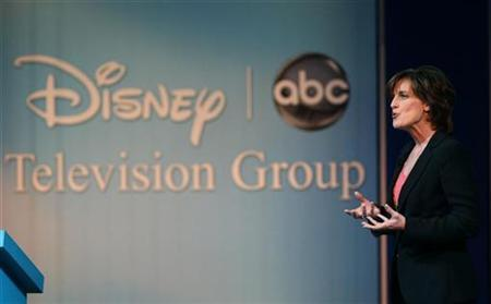 Anne Sweeney co-chair of Disney Media Networks and president of Disney-ABC Television Group, speaks during an Industry Insider session on the first day of the 2009 International Consumer Electronics Show (CES) in Las Vegas, Nevada, January 8, 2009. REUTERS/Steve Marcus