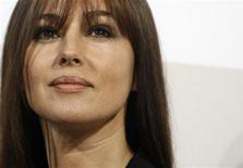 <p>Актриса Моника Белуччи во время фотосессии на кинофестивале в Риме, 23 октября 2008 года. 30 сентября 1964 года родилась итальянская актриса и фотомодель Моника Белуччи. REUTERS/Dario Pignatelli (ITALY)</p>