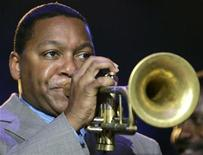 "<p>Musician Wynton Marsalis performs at the ""Rebuilding the Soul of America - One Year Later"" concert, which is dedicated to the victims of Hurricane Katrina, in New Orleans August 29, 2006. REUTERS/Carlos Barria</p>"