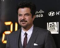 "<p>Cast member Anil Kapoor poses at the party for the television series finale of ""24"" in Los Angeles April 30, 2010. REUTERS/Mario Anzuoni</p>"
