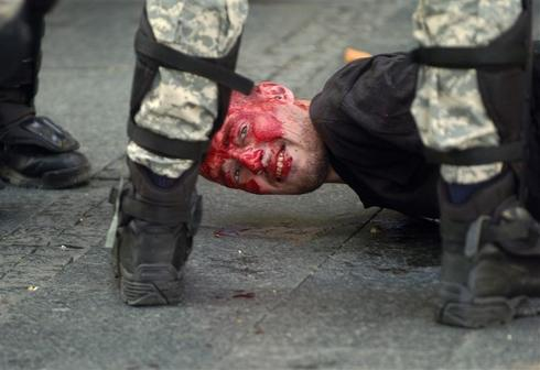 Gay rights march turns bloody