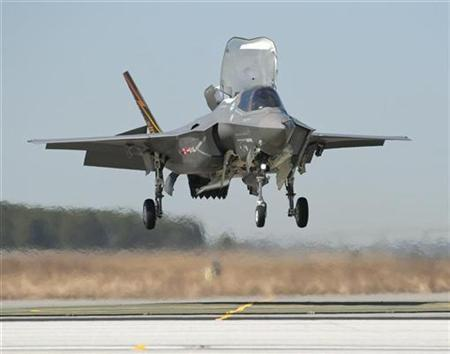 The F-35 Lightning II, also known as the Joint Strike Fighter (JSF), is shown in this March 2010 file photograph. REUTERS/Lockheed Martin Corp/Handout