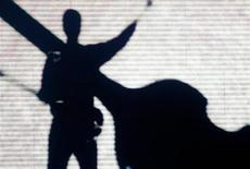 <p>A huge silhouette of British pop star Sir Paul McCartney is displayed on the stage at the beginning of his concert in front of Rome's ancient Colosseum May 11, 2003. REUTERS/ Alessia Pierdomenico</p>
