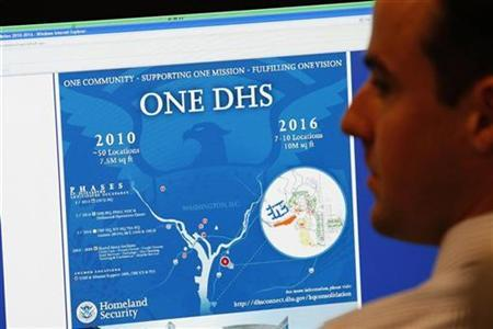 An analyst from the U.S. Department of Homeland Security is pictured at the National Cybersecurity & Communications Integration Center (NCCIC) located just outside Washington in Arlington, Virginia on September 24, 2010. REUTERS/Hyungwon Kang