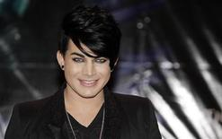 <p>U.S. glam rocker Adam Lambert poses during a news conference ahead of his concert, in Kuala Lumpur October 14, 2010. REUTERS/Bazuki Muhammad</p>