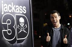"<p>Steve-O, do elenco de ""Jackass 3D"", durante estreia do filme em Hollywood. 14/10/2010 REUTERS/Mario Anzuoni</p>"