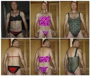<p>Colonel Russell Williams poses in lingerie stolen during various fetish break-ins for lingerie in this combination of evidence photos released by the court. Williams pleaded guilty October 18, 2010 to more than 80 charges, including two counts of first-degree murder, two sexual assaults and dozens of fetish break-ins for lingerie documented in lurid photos. REUTERS/Handout</p>