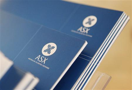 The Australia's ASX Ltd logo is seen on some books at the Australia's ASX building in central Sydney October 25, 2010. REUTERS/Daniel Munoz