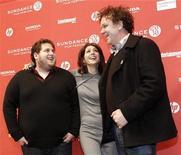 """<p>Jonah Hill, Marisa Tomei e John C. Reilly na estreia de """"Cyrus"""" no Festival de Sundance, em janeiro. 23/01/2010 REUTERS/Mario Anzuoni</p>"""
