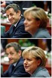 <p>Президент Франции Николя Саркози (слева) и канцлер Германии Ангела Меркель на саммите в Брюсселе, 28 октября 2010 года. Ведущие страны Евросоюза Германия и Франция пытаются убедить остальные государства блока внести поправки в главный документ ЕС - Лиссабонский договор - во избежание новых финансовых кризисов. REUTERS/Yves Herman</p>
