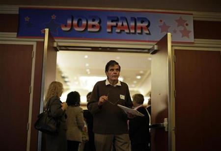 A man walks out of a job fair for military veterans and other unemployed people in Los Angeles, October 7, 2010. REUTERS/Lucy Nicholson