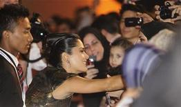 <p>Salma Hayek attends the opening night gala during the 2010 Doha Tribeca Film Festival in Doha October 26, 2010. REUTERS/Mohammed Dabbous</p>