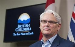 <p>British Columbia Premier Gordon Campbell talks about his future during a news conference in Vancouver, British Columbia November 4,2010. REUTERS/Andy Clark</p>