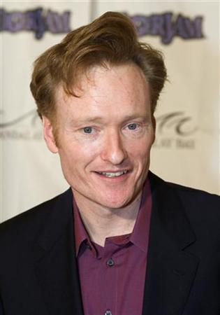 Television talk show host Conan O'Brien arrives at the Tiger Jam VIII benefit concert in Las Vegas, Nevada May 21, 2005. REUTERS/Ethan Miller