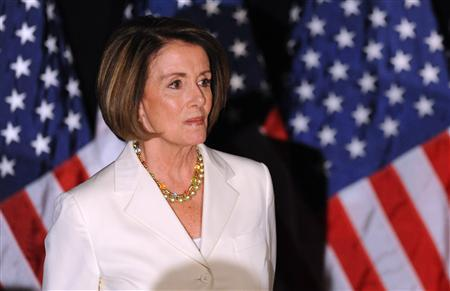 House Speaker Nancy Pelosi (D-CA) hosts a Democratic congressional election night results watch rally in Washington, November 2, 2010. REUTERS/Jonathan Ernst