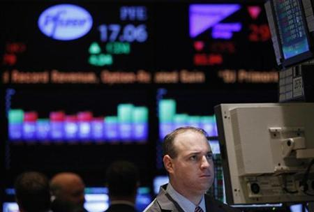 A trader works on the floor of the New York Stock Exchange in New York, November 9, 2010. REUTERS/Shannon Stapleton