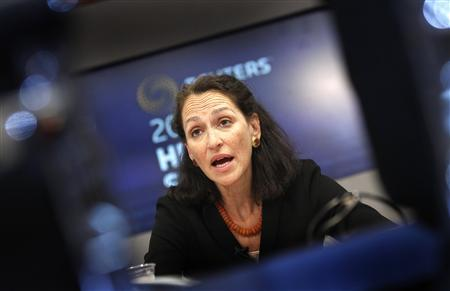 Food and Drug Administration (FDA) Commissioner Margaret Hamburg, M.D., speaks at the Reuters Health Summit in New York, November 9, 2010. REUTERS/Mike Segar