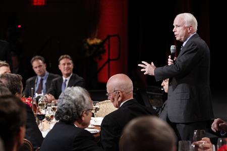 U.S. Senator John McCain (R-AZ) speaks at the 2010 meeting of the Wall Street Journal CEO Council in Washington, November 15, 2010. REUTERS/Hyungwon Kang