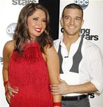 "<p>Bristol Palin, daughter of former Alaska Governor Sarah Palin, and professional dancing partner Mark Ballas pose backstage after the premiere of ABC's series ""Dancing with the Stars Season 11"" in Los Angeles September 20, 2010. REUTERS/Fred Prouser</p>"