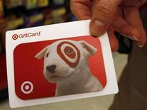 <p>A Target gift card is displayed in a Target store in Fairfax, Virginia, February 4, 2010. REUTERS/Stelios Varias</p>