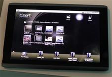 <p>La nueva Tablet PC de Acer durante su presentación a medios en Nueva York, nov 23 2010. La empresa tecnológica Acer reveló una serie de Tablet PC para competir con el iPad de Apple Inc, con lo que se unió a sus rivales tecnológicos en un mercado de rápido crecimiento. REUTERS/Shannon Stapleton</p>
