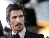 "<p>Cast member Christian Bale is interviewed at the premiere of the movie ""Public Enemies"" at the Mann Village theatre in Westwood, California June 23, 2009. REUTERS/Mario Anzuoni</p>"