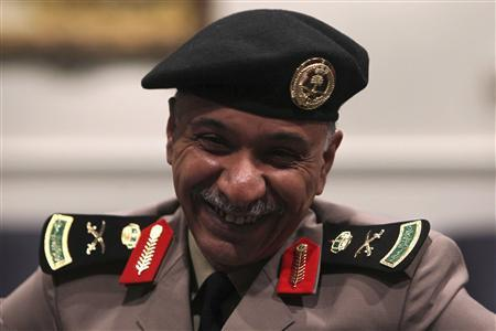 Interior Ministry spokesman Mansour Turki smiles during a news conference in Riyadh November 26, 2010. REUTERS/Fahad Shadeed