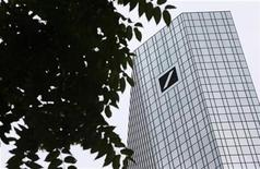 <p>The headquarters of Deutsche Bank AG are pictured in Frankfurt July 23, 2010. REUTERS/Ralph Orlowski</p>