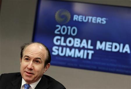 Philippe Dauman, president and CEO of Viacom, speaks at the Reuters Global Media Summit in New York December 2, 2010. REUTERS/Brendan McDermid