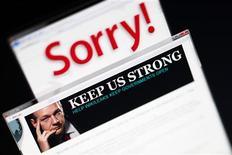 <p>Una imagen del sitio web wikileaks.ch con el retrato del fundador de WikiLeaks, Julian Assange, visto desde un ordenador en Lavigny, Suiza, dic 4 2010. Un abogado del fundador de WikiLeaks, Julian Assange, dijo el lunes que él y el creador del polémico sitio que filtra documentos clasificados estaban en proceso de pactar una reunión con la policía de Gran Bretaña. REUTERS/Valentin Flauraud</p>