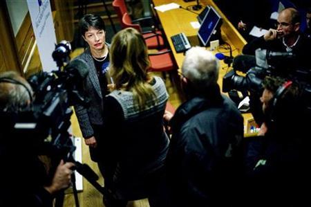 Swedish Director of Prosecution Marianne Ny answers questions during a news conference at the police headquarters in Gothenburg December 7, 2010. The sexual misconduct case against WikiLeaks founder Julian Assange is a personal matter and not connected with his work releasing secret U.S. diplomatic cables, Ny said on Tuesday. REUTERS/Adam Ihse/Scanpix Sweden THIS IMAGE HAS BEEN SUPPLIED BY A THIRD PARTY. IT IS DISTRIBUTED, EXACTLY AS RECEIVED BY REUTERS, AS A SERVICE TO CLIENTS.
