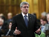 <p>Canada's Prime Minister Stephen Harper speaks during Question Period in the House of Commons on Parliament Hill in Ottawa December 16, 2010. REUTERS/Chris Wattie</p>
