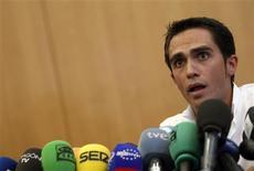 <p>Doping do ciclista Alberto Contador pode ir ao Tribunal de Arbitragem. REUTERS/Sergio Perez</p>