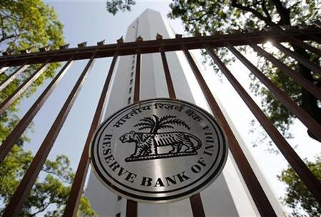 The Reserve Bank of India (RBI) logo is pictured outside its head office in Mumbai November 2, 2010. REUTERS/Danish Siddiqui
