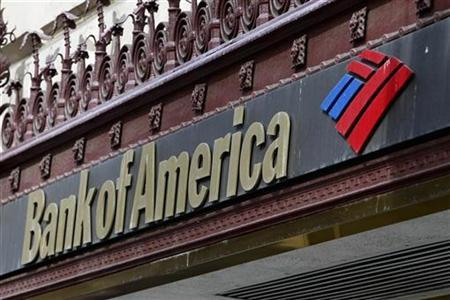 The sign of a Bank of America branch is pictured in downtown Los Angeles October 8, 2010.REUTERS/Fred Prouser